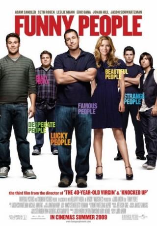 Eric Bana, Jonah Hill, Leslie Mann, Seth Rogen, Adam Sandler en Jason Schwartzman in Funny People
