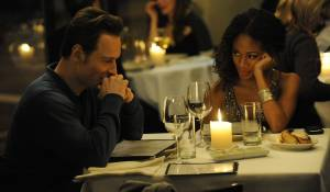 Shame: Michael Fassbender (Brandon) en Nicole Beharie (Marianne)