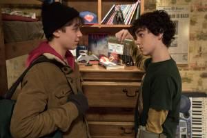 Shazam!: Jack Dylan Grazer (Freddy Freeman) en Asher Angel (Billy Batson)