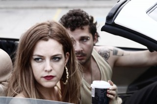 Riley Keough en Shia LaBeouf in American Honey