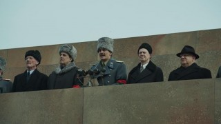 Michael Palin, Jeffrey Tambor, Rupert Friend, Steve Buscemi en Simon Russell Beale in The Death of Stalin