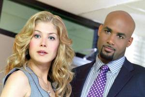Surrogates: Boris Kodjoe (Anthony Stone) en Rosamund Pike (Maggie Greer)