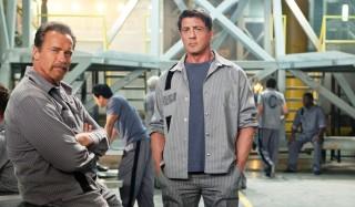 Arnold Schwarzenegger en Sylvester Stallone in Escape Plan