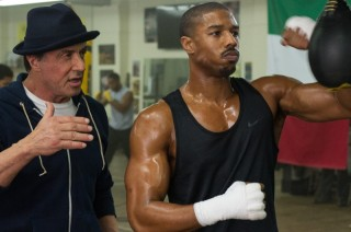 Sylvester Stallone en Michael B. Jordan in Creed