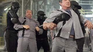Arnold Schwarzenegger en Sylvester Stallone in Escape Plan 2