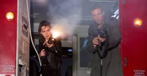 Emilia Clarke (Sarah Connor) en Jason Clarke (John Connor)