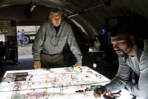 The A-Team: Quinton 'Rampage' Jackson (Cpl. Bosco 'B.A.' Baracus) en Liam Neeson (Col. John 'Hannibal' Smith)