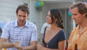The Babymakers: Olivia Munn (Audrey), Paul Schneider (Tommy) en Kevin Heffernan (I) (Wade)