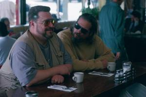 The Big Lebowski: John Goodman (Walter Sobchak) en Jeff Bridges (Jeffrey Lebowski - The Dude)