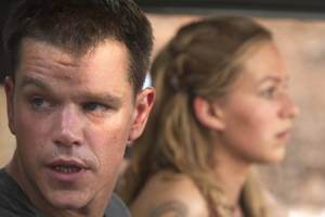 Matt Damon (Jason Bourne) en Franka Potente (Marie)