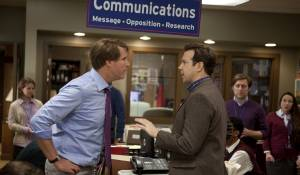 The Campaign: Will Ferrell (Cam Brady) en Jason Sudeikis (Mitch)