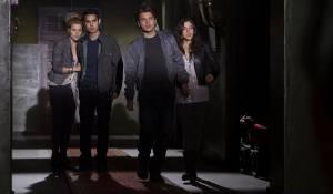 The Darkest Hour: Rachael Taylor (Anne), Max Minghella (Ben), Emile Hirsch en Olivia Thirlby (Natalie)