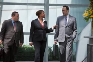 The Dilemma: Kevin James (Isaac Backman), Queen Latifah ((rumored)) en Vince Vaughn (Ronny Valentine)