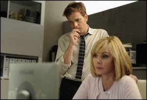 The Ghost Writer: Kim Cattrall (Amelia Bly) en Ewan McGregor (The Ghost)