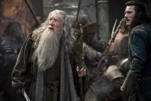 The Hobbit: The Battle Of The Five Armies: Ian McKellen (Gandalf) en Luke Evans (Bard)