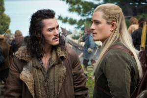 The Hobbit: The Battle Of The Five Armies: Luke Evans (Bard) en Orlando Bloom (Legolas)