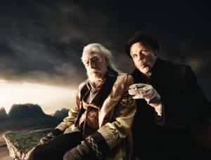 The Imaginarium of Doctor Parnassus: Christopher Plummer (Dr. Parnassus) en Tom Waits (Mr. Nick)