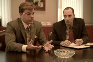 The Informant!: Matt Damon (Mark Whitacre) en Tony Hale