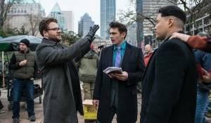 The Interview: Seth Rogen (Aaron Rappaport), James Franco (David Skylark) en Randall Park (Kim Jung Un)