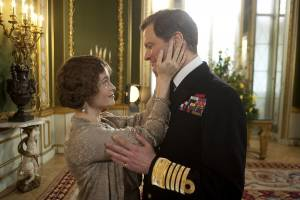The King's Speech: Helena Bonham Carter (Queen Elizabeth) en Colin Firth (King George VI)