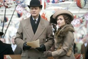 The King's Speech: Colin Firth (King George VI) en Helena Bonham Carter (Queen Elizabeth)