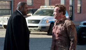 The Last Stand: Forest Whitaker (Agent John Bannister) en Arnold Schwarzenegger (Sheriff Ray Owens)