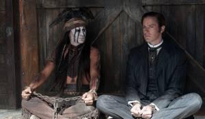The Lone Ranger: Johnny Depp (Tonto) en Armie Hammer (John Reid / The Lone Ranger)