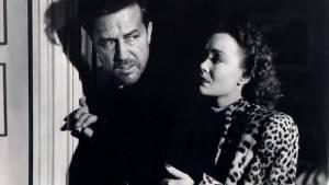 The Lost Weekend: Ray Milland (Don Birnam) en Jane Wyman (Helen St. James)