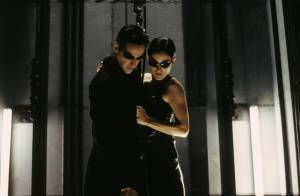 The Matrix: Keanu Reeves (Neo) en Carrie-Anne Moss (Trinity)