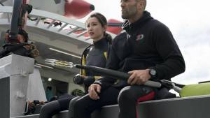 The Meg: Bingbing Li (Suyin) en Jason Statham (Jonas Taylor)