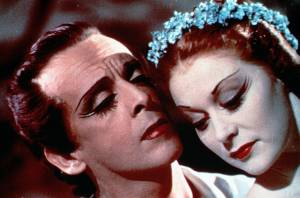 The Red Shoes: Marius Goring (Julian Craster) en Moira Shearer (Victoria Page)