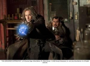 The Sorcerer's Apprentice: Nicolas Cage (Balthazar Blake) en Alfred Molina (Maxim Horvath)