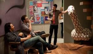 This Is the End: James Franco (James Franco), Seth Rogen (Seth Rogen) en Christopher Mintz-Plasse (Christopher Mintz-Plasse)