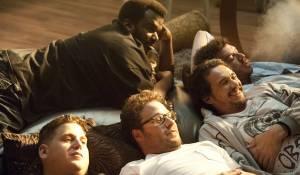 This Is the End: Jonah Hill (Jonah Hill), Seth Rogen (Seth Rogen), Craig Robinson (Craig Robinson), James Franco (James Franco) en Danny R. McBride (Danny McBride)