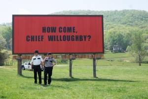 Three Billboards Outside Ebbing, Missouri: Woody Harrelson (Willoughby) en Sam Rockwell (Dixon)
