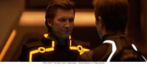 Tron: Legacy: Jeff Bridges (Kevin Flynn / Clu 2) en Garrett Hedlund (Sam Flynn)