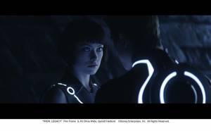 Tron: Legacy: Garrett Hedlund (Sam Flynn) en Olivia Wilde (Quorra)