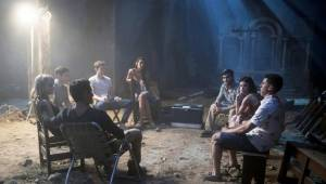 Truth or Dare: Violett Beane (Markie Cameron), Hayden Szeto (Brad), Tyler Posey (Lucas), Sophia Ali (Penelope (as Sophia Taylor Ali)), Nolan Gerard Funk en Lucy Hale (Olivia)
