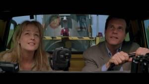 Twister: Helen Hunt (Dr. Jo Harding) en Bill Paxton (Bill Harding)
