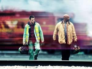 Unstoppable: Chris Pine (Will Colson) en Denzel Washington (Frank Barnes)