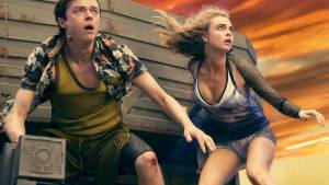 Valerian and the City of a Thousand Planets 3D: Dane DeHaan (Valerian) en Cara Delevingne (Laureline)