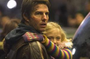 Tom Cruise en Dakota Fanning in War of the Worlds