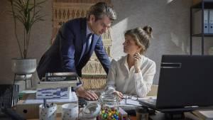 Maarten Heijmans (Gijs) en Elise Schaap (Cato)