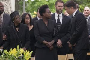 Widows: Viola Davis (Veronica) en Colin Farrell (Jack Mulligan)