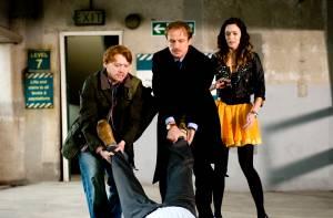 Wild Target: Emily Blunt (Rose), Rupert Grint (Tony) en Bill Nighy (Victor Maynard)