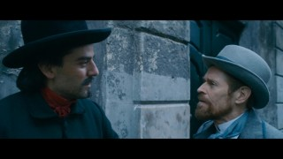 Oscar Isaac en Willem Dafoe in At Eternity's Gate
