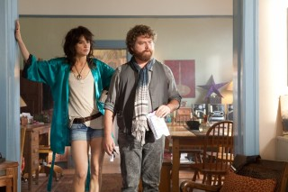 Zach Galifianakis en Juliette Lewis in Due Date