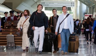 Zach Galifianakis, Bradley Cooper, Justin Bartha en Ed Helms in The Hangover Part II