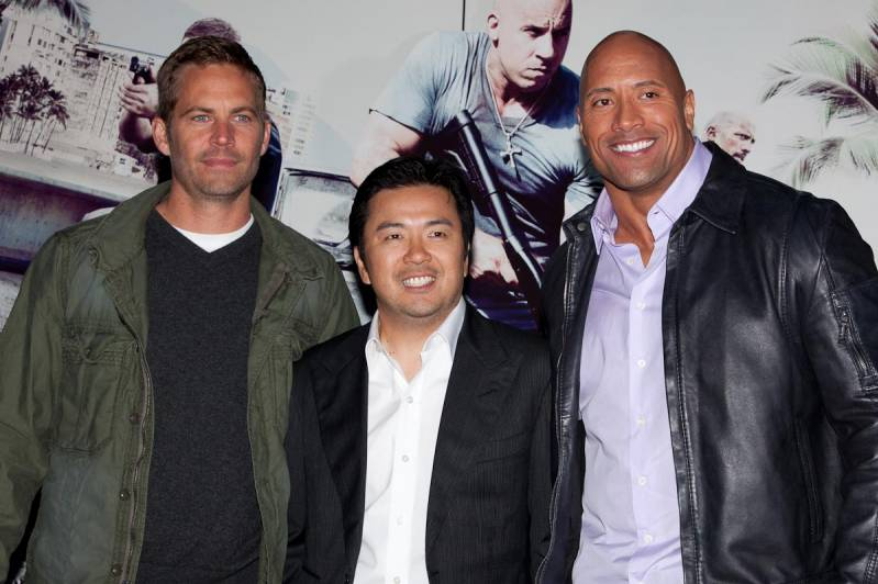 Paul Walker, Justin Lin en Dwayne Johnson (c) Arjo Frank/Biosagenda.nl
