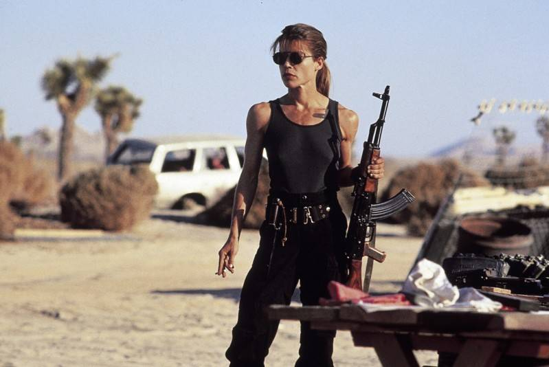 Linda Hamilton in Terminator 2: Judgment Day